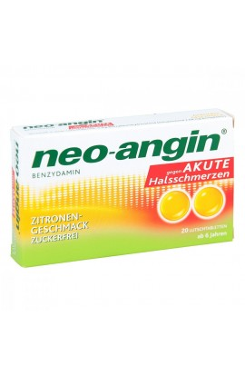 MCM Neo Angin Benzydamine Acute Sore Throat Lemon (20 pcs)