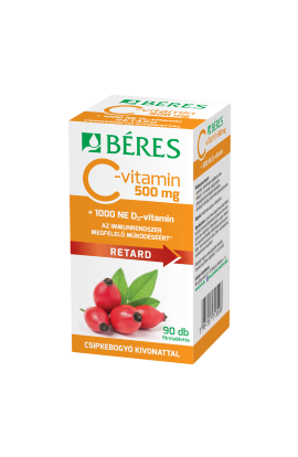 Béres, C-vitamin 500 mg RETARD , 90 ks