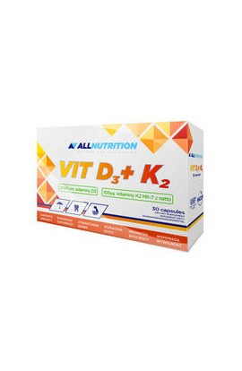 Allnutrition, D3 + K2, 30 PCs