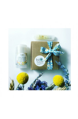 Biorythme, Natural Deodorant Lemon Lemon 30 g + Natural Lip Balm with Chia Oil Mandarine 4.8 ml Gift Set