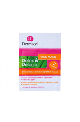 Dermacol, Detox & Defense,detoxifying and protective facial mask for all skin types,2x8 g