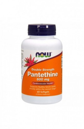 Now Foods, Pantethine, Double Strength, 600 mg, 60 Softgels