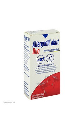 Meda, Аллергодил, Allergodil akut Duo, 4ml/10ml
