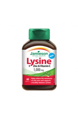 Lysine 1000 mg with Zinc and Vitamin C, 60 Tablets